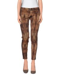 Elisabetta Franchi | Brown Casual Trouser | Lyst