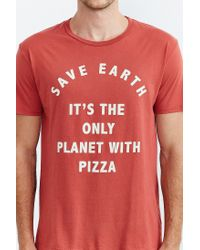 Project Social T - Red Save Earth Pizza Tee for Men - Lyst