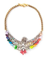 Shourouk | Metallic Phoenix Necklace | Lyst