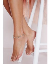 Missguided - Blue Turquoise Beaded Anklet - Lyst