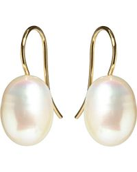 Annoushka | Metallic Classic Baroque Pearl And 18ct Yellow-gold Drop Earrings - For Women | Lyst