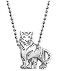 Alex Woo   Metallic Little Tiger Zodiac Pendant Necklace In Sterling Silver   Lyst