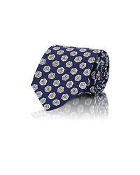 Drake's - Blue Men's Abstract-medallion Necktie for Men - Lyst