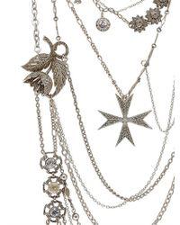 Maria Zureta - Metallic Mish Mash Silver Necklace - Lyst