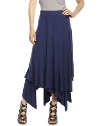 Philosophy - Blue Layered Knit Skirt - Lyst