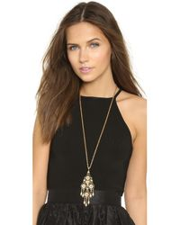 Ben-Amun - Metallic Dreamcatcher Necklace - Lyst