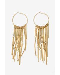 Nasty Gal | Metallic Angelina Suede Hoop Earrings | Lyst