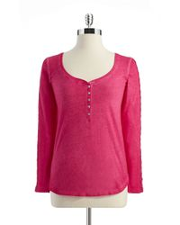 Jessica Simpson | Pink Long Sleeved Tee | Lyst