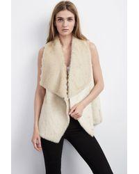 Velvet By Graham & Spencer - Natural Anouk Faux Fur Vest - Lyst