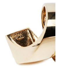 Valentino | Metallic Gold Pearl Ring | Lyst