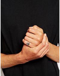 ASOS | Metallic Pinky Ring for Men | Lyst