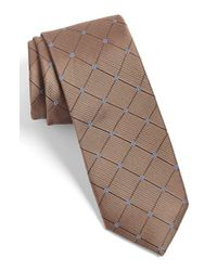 Calibrate   Brown Woven Silk Tie for Men   Lyst