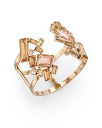 Saks Fifth Avenue | Pink Geo Cluster Cuff Bracelet | Lyst