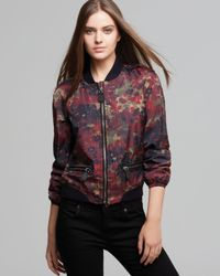 Burberry | Red Brit Godsworth Bomber Jacket | Lyst