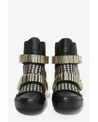 Nasty Gal - Black Plata High-top Sneaker - Lyst