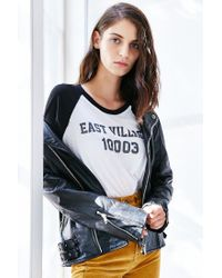 Truly Madly Deeply | White Zip Code Raglan Tee | Lyst