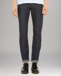 Sandro | Blue Jeans - Paint Straight Fit for Men | Lyst