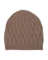 Madeleine Thompson | Brown Alice Cable-knit Cashmere Beanie | Lyst