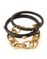 Ashley Pittman - Black Mikufu Dark Horn Bracelets - Lyst