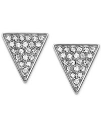 Michael Kors | Metallic Crystal Pavé Triangle Stud Earrings | Lyst