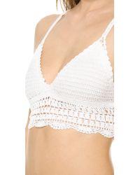 Lovers + Friends - Lovers Friends South Beach Crop Top White Crochet - Lyst