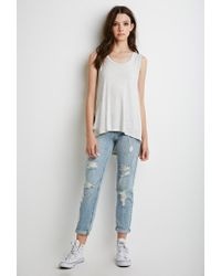 Forever 21 | Gray Side-slit Muscle Tee | Lyst