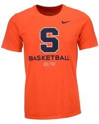 Nike men 39 s syracuse orange basketball university t shirt for Syracuse orange basketball t shirt
