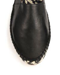 Proenza Schouler | Black Lambskin Leather Espadrilles | Lyst