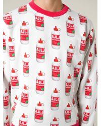 Au Jour Le Jour | Red Glue Print Sweatshirt for Men | Lyst