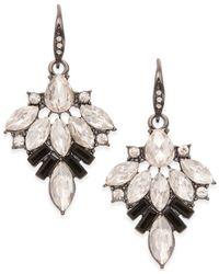 ABS By Allen Schwartz | Metallic Hematite-tone Cluster Stone Drop Earrings | Lyst