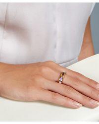 Astley Clarke - Metallic Gold-plated Amethyst Prismic Slice Ring - Lyst