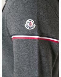 Moncler - Gray Knit Cardigan for Men - Lyst