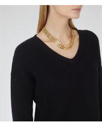 Reiss - Metallic Meadow Chain Necklace - Lyst