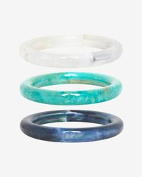 Pono | Blue Marbled Resin Bangles | Lyst