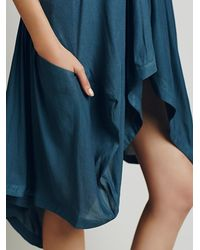 Free People - Blue Womens Drawstring Swing Tunic - Lyst