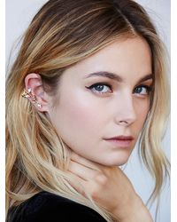 Free People | Metallic Crystalite Ear Cuff | Lyst