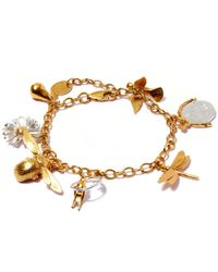 Alex Monroe | Metallic Gold-plated Greatest Hit Charm Bracelet | Lyst