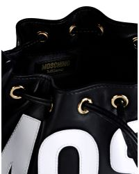 Moschino | Black Medium Leather Bag | Lyst