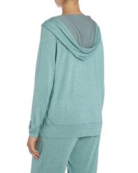 Calvin Klein - Green Long Sleeved Hodded Top - Lyst