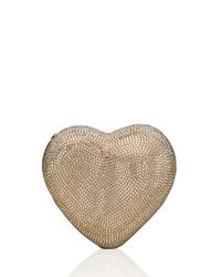 Judith Leiber Couture - Metallic Heart Crystal Clutch Bag - Lyst