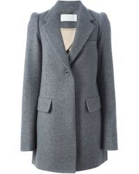 Chloé - Gray Classic Coat - Lyst