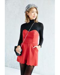 Kimchi Blue | Red Chloe Romper | Lyst