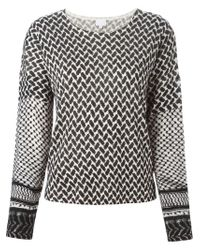 Lala Berlin - Black Geometric Pattern Sweater - Lyst