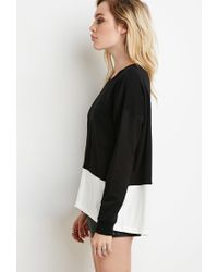 Forever 21 - Black Layered Pullover Sweatshirt - Lyst