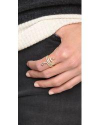 Shashi - Metallic Large Snake Ring - Gold - Lyst