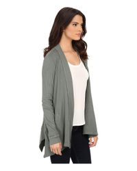 Splendid | Gray Thermal Cardigan | Lyst