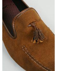 TOPMAN - Brown Grail Adler Tan Suedette Tassel Loafers for Men - Lyst