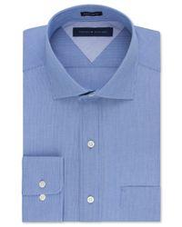 Tommy Hilfiger   Blue Men's Classic-fit Non-iron Stripe Dress Shirt for Men   Lyst