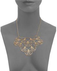 Trina Turk | Metallic Openwork Fan Bib Necklace for Men | Lyst