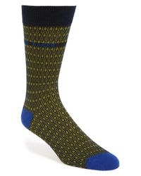 Ted Baker | Green 'blooma' Organic Cotton Blend Socks for Men | Lyst